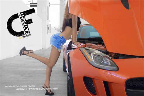 Jaguar F-type V8 S Meets Model Lianita Crystal
