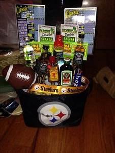 Custom Steelers Fan Gift Basket w Chips Popcorn Nuts
