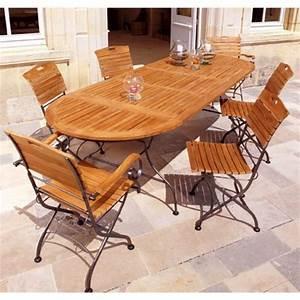Table De Jardin Fer : table de jardin fer et bois ~ Nature-et-papiers.com Idées de Décoration
