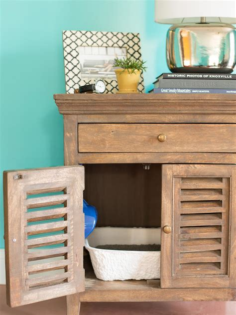 How To Conceal A Litter Box In A Table Hgtv