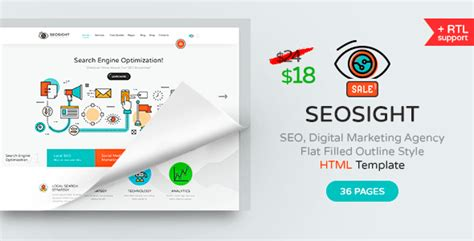 Seo Digital Marketing - marketing html5 pages page builders templates vip