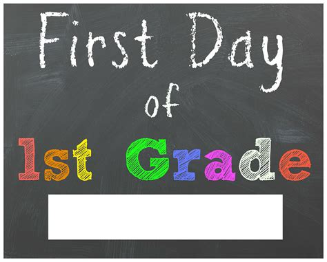 Free Back To School Printable Chalkboard Signs For First Day Of School  Mama Cheaps
