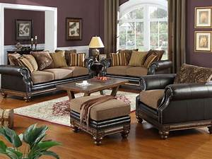 Relaxing brown living room decorating ideas with dark for Black and brown furniture in living room