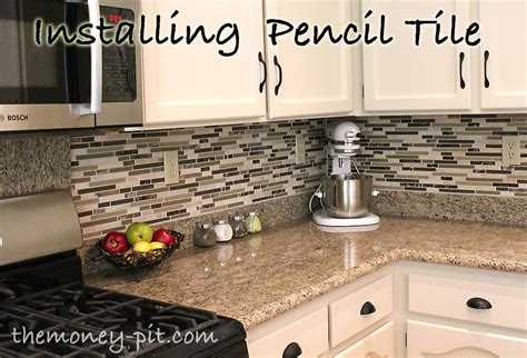 How To Install Backsplash Tile In Kitchen by How To Install A Pencil Tile Backsplash And What It Costs