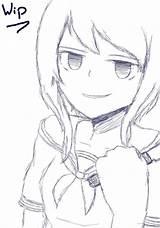 Yandere Simulator Ayano Aishi Chan Fanart Coloriage Coloring Tags Drawings Sketch Disegni Colorare Doki Drawing Anime Literature Sketches Aichi Kawaii sketch template