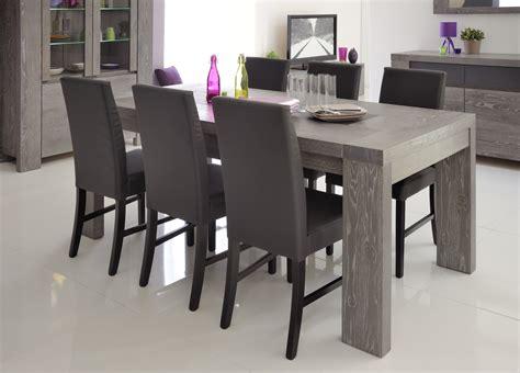 salle a manger contemporaine grise table de salle 224 manger contemporaine extensible ch 234 ne gris 233 verre laqu 233 gris indila table 224