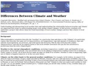 6th Grade Weather and Climate Worksheets