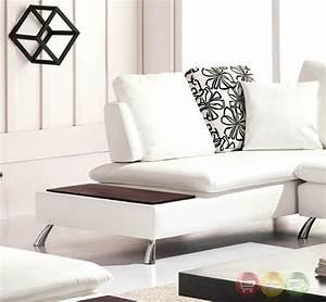 nicki ultra modern white bonded leather sectional sofa With ultra modern leather sectional sofa set
