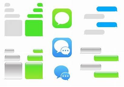 Imessage Vector Bubble Text Empty Clipart