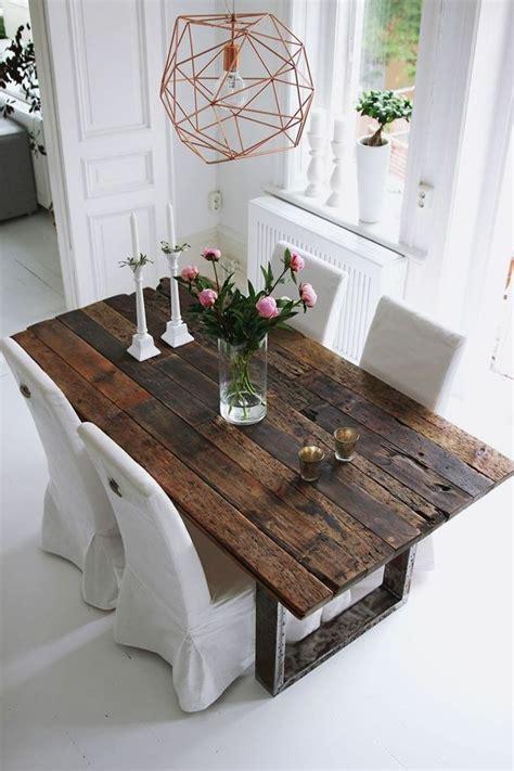 decoracion de salones comedor mesa de madera rectangular