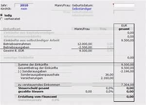 Einkommensteuer Berechnen Selbständig : muster zur berechnung der einkommensteuer ~ Themetempest.com Abrechnung