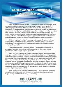 Best Fellowship Personal Statement Sample  Personal