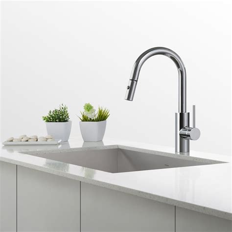 shoo hose for kitchen sink kraus kpf2620ch single lever pull down kitchen faucet with
