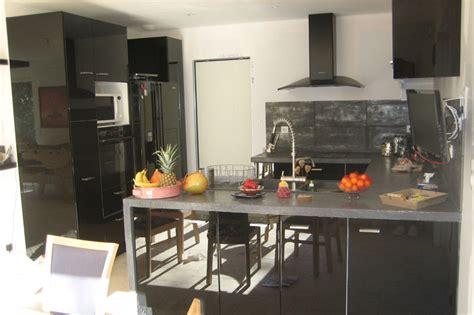 cuisine noir laqué cuisine ikea noir laque