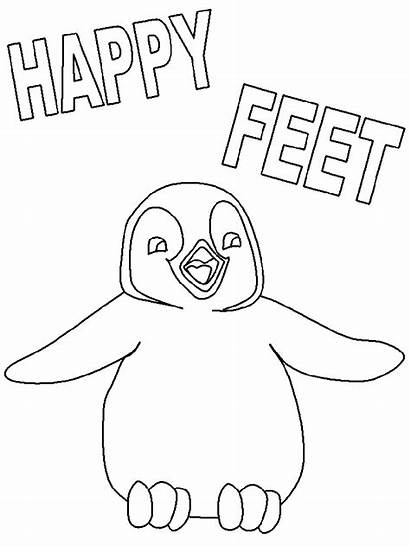 Feet Coloring Happy Pages Cartoon