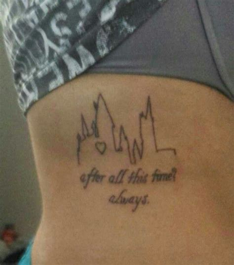 time  harry potter tattoo