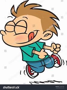 Excited Cartoon Boy Dancing Stock Vector 155495768 ...