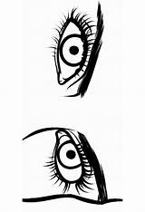 Eyes Coloring Pages Printable Mycoloring Bright sketch template