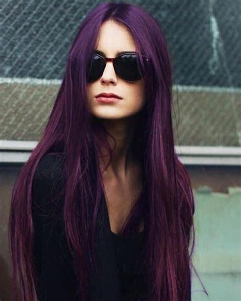 stylish dark purple hair color ideas destined