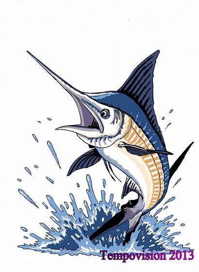 Marlin Jumping Drawing License Drawings Plates Deviantart