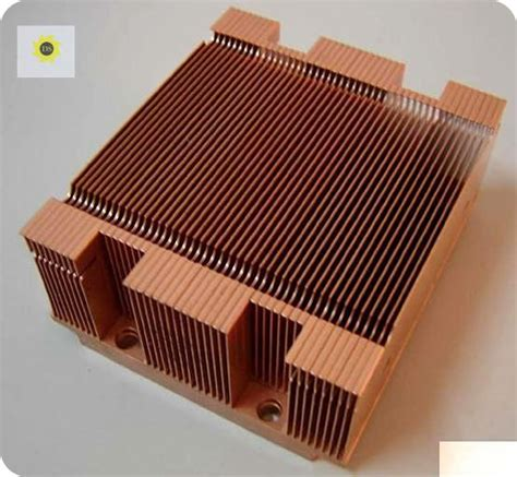 China High Quality Custom Copper Heat Sink With Skiving
