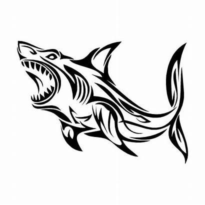 Shark Tribal Tattoo Sticker Vinyl Decal Drawing