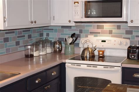 removable backsplash kitchen backsplash tile glass metal
