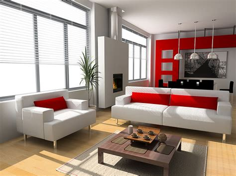 10 Red And White Living Room Design Ideas