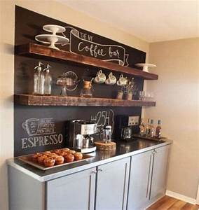14 tips for diying a coffee bar at home brit co With what kind of paint to use on kitchen cabinets for diy wall art decor