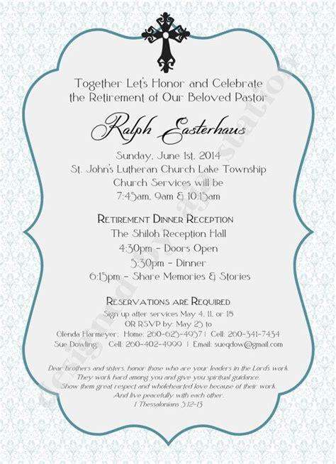 retirement party invitation blue personalized