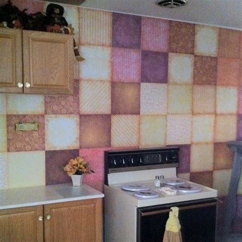 kitchen wall covering ideas scrapbook paper kitchen wall covering