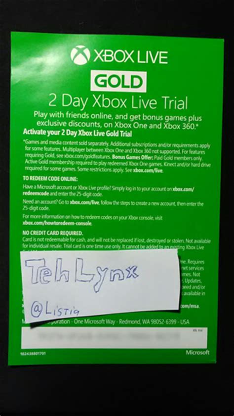 mm xbox live code free xbox live gold 2 day activation code prepaid cards codes listia