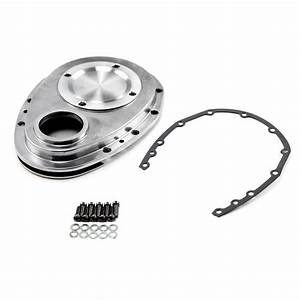 57 Sbc Timing Chain  Chevy Sbc 350 Aluminum Timing Chain Cover Polished Ebay