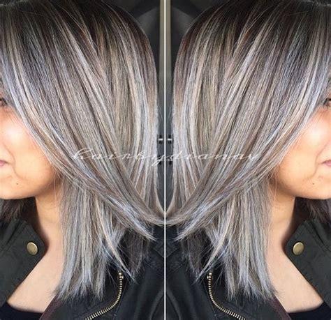 amazing greysilver highlights   hair grey hair