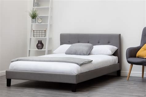 King Bed Frame Gray by Blenheim Grey Fabric Bed Single King Size Sleep