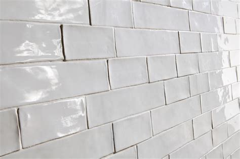 argila white   vintage handmade  subway tile