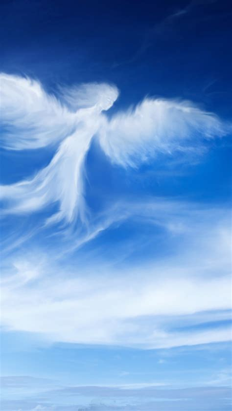 wallpaper angel blue sky hd  creative graphics  wallpaper  iphone android