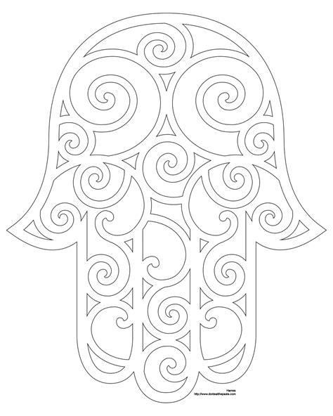 Kleurplaat Hamsa by Hamsa Coloring Page And Embroidery Patterns חמסה