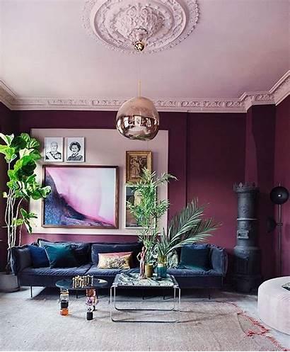 Living Purple Wall Awesome Rich Walls Powder