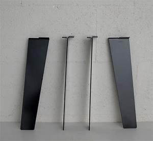 Pied De Table Basse Metal Industriel : pied de table basse minimaliste 40cm ref flat40 pyeta ~ Teatrodelosmanantiales.com Idées de Décoration