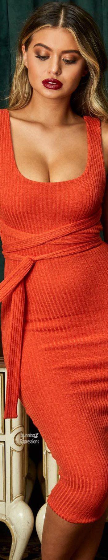 pin  stunning expressions  sofia jamora celebrities   dress   orange color