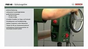 Bosch Pbd 40 Fräsen : tutorial tischbohrmaschine pbd 40 von bosch youtube ~ Buech-reservation.com Haus und Dekorationen
