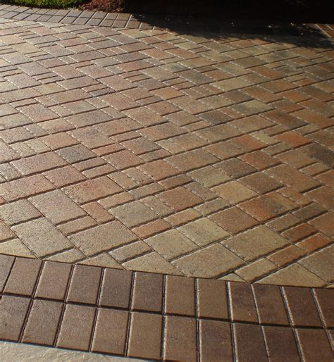 paver driveway sealing  travertine interlocking brick