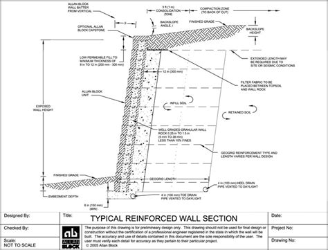 brick retaining wall detail image gallery shotcrete details