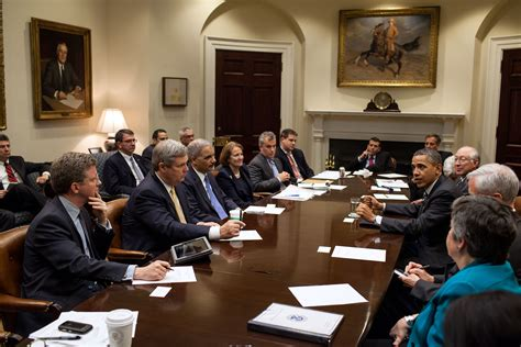 Cabinet Members by File Barack Obama Drops By A Meeting With Cabinet Members