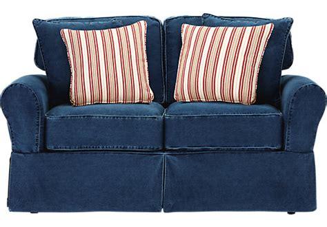 denim sofa and loveseat cindy crawford home beachside blue denim loveseat isofa