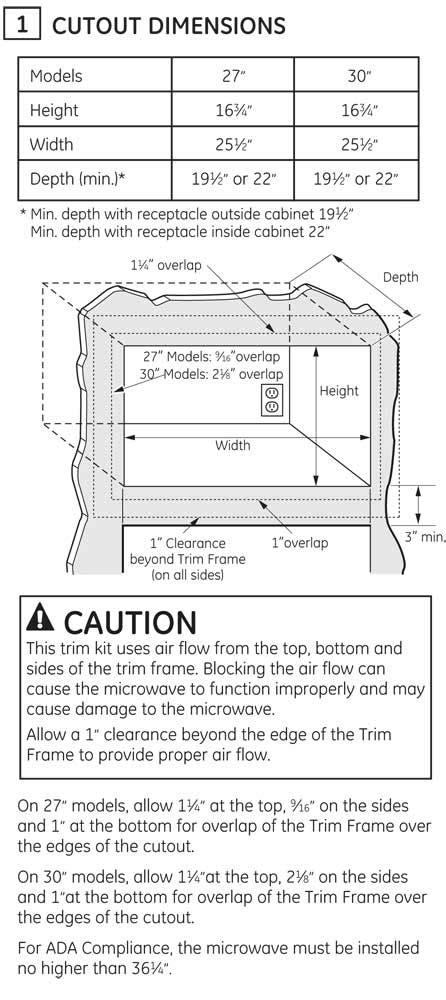 "GE 27"" Built-In Microwave Oven Trim Kit - JX7227SLSS"