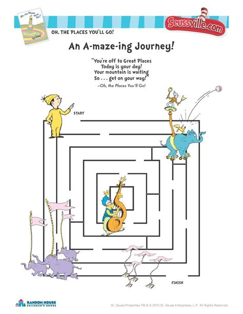 oh the places you ll go maze suessville drseuss 337   213b49c64106930182837a9a81e727f2 oh the places youll go activities dr seuss day