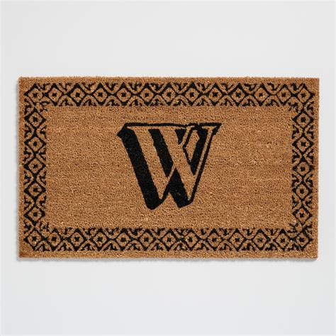 initial doormats w monogram coir doormat world market