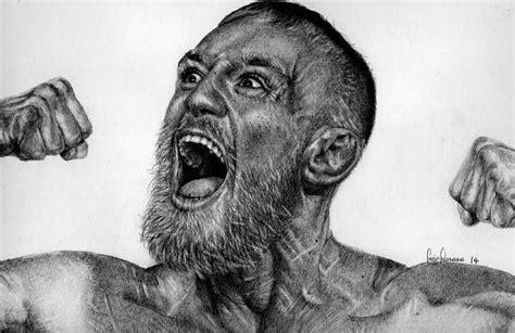 conor mcgregor pencil portrait and pencil on